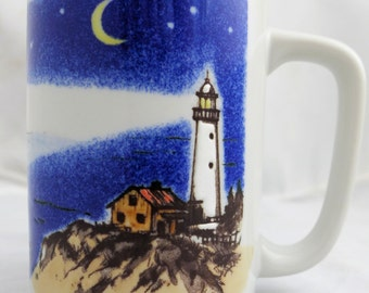 Vintage Otagiri Embossed Lighthouse Mug - Japan
