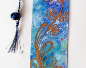 Bookmark - Hand Painted Blue Watercolour