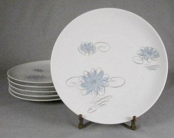 Raymond Lowey, Rosenthal, Continental China, Reflections, 6 dinner plates, 1950s