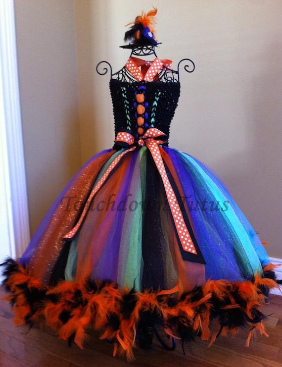 halloween tutu dress with witch hat - Halloween Tutu Dress