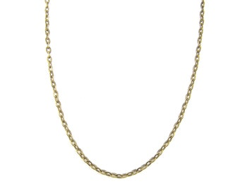 18 Inch Brass Chain Necklace Medium Link Antique Brass Plated Oval Chain |CH2-Med-AB18