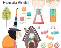Hansel & Gretel Digital Clip Art Clipart Set - Personal and Commercial Use