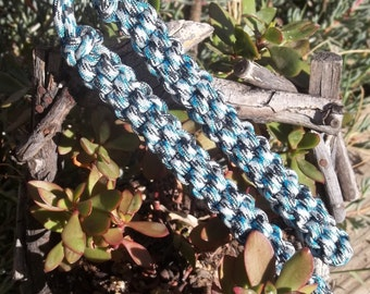 Blue-Black-Gray-White Digital Paracord Training Chucks for Tactical and Survival Purposes, Martial Arts Training, or a super birthday gift