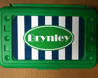Personalized Monogrammed Pencil Box- Design Your Own