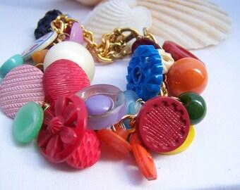 Vintage Button handmade Bracelet