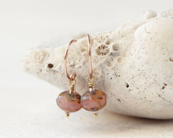 Rose Gold Earrings - Simple, Minimal Earrings For Women