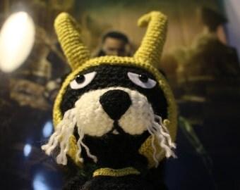 DO NOT PURCHASE, Sold, ooak, Loki, Amigurumi, Crochet Cat Amigurumi, Crochet Doll, Fandom, Geeky, Thor, The Avengers, Marvel, Tom Hiddleston