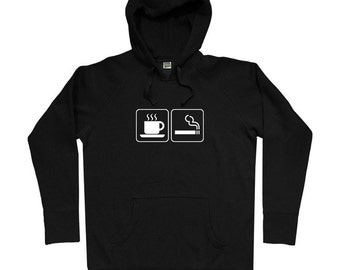Coffee and Cigarettes Hoodie - Men S M L XL 2x 3x - Hoody Sweatshirt - 4 Colors