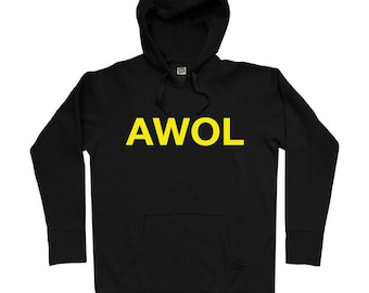 AWOL Hoodie - Men S M L XL 2x 3x - Military Hoody Sweatshirt - 4 Colors