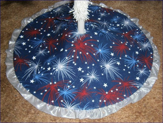 Items similar to patriotic fourth of july tree skirt