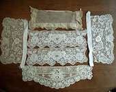 Lot of Antique Lace, Six Pieces of Inserts or Cuffs