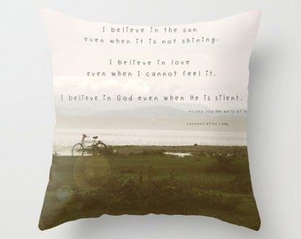 Inspirational Quote Sofa Pillow, African Accent Pillow, Neutral Throw Pillow Cover, 18x18 22x22 Decorative Pillow Cushion