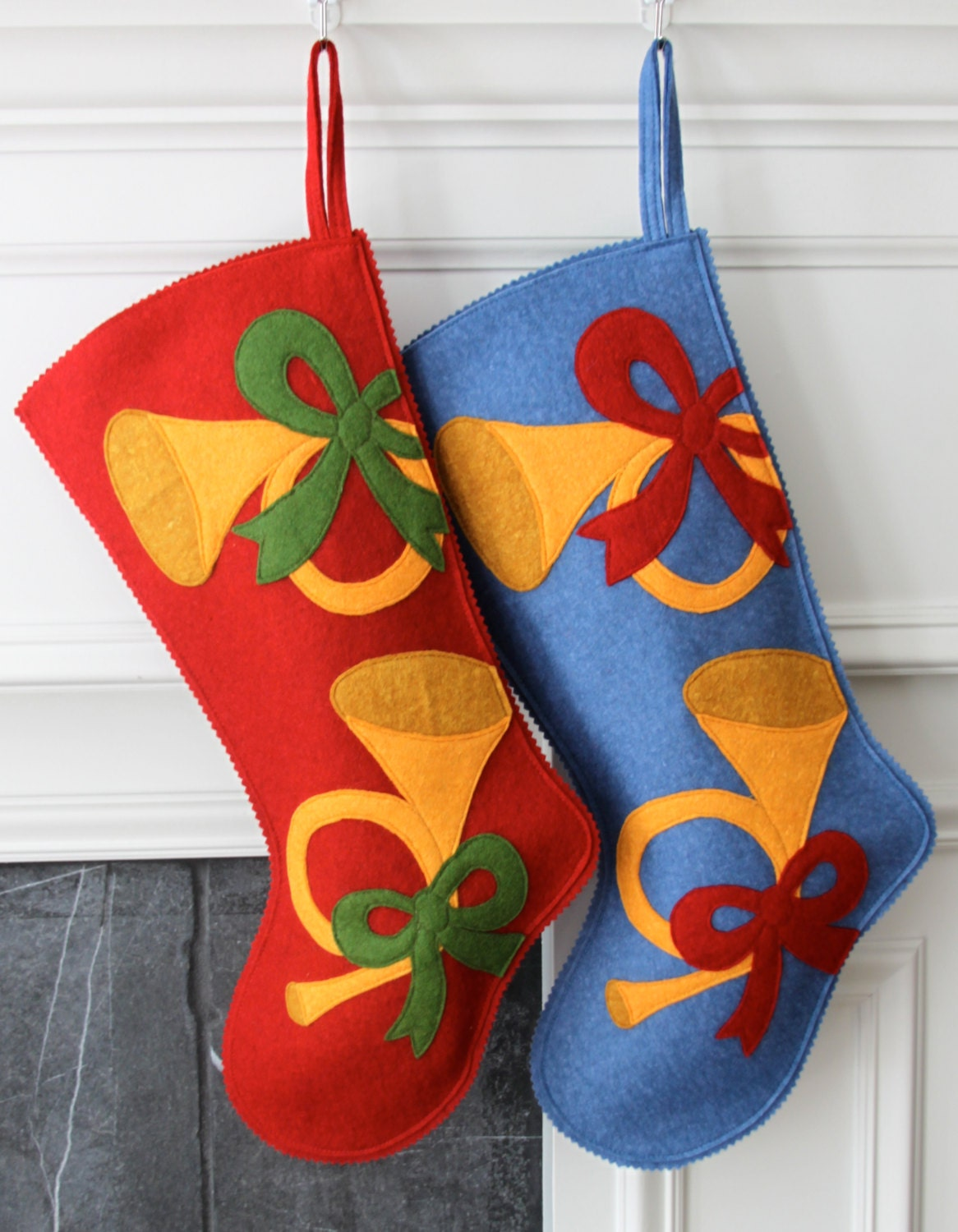 Handmade Wool Felt Christmas Stocking Celebrate By