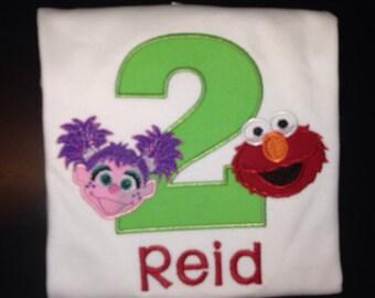 Boys Elmo & Abby Cadabby Inspired Birthday Shirt for Kids (1st Birthday) - Boys Birthday