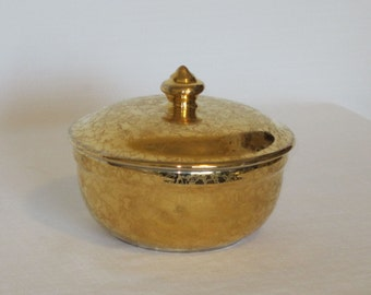 Hall's China Covered Dish For Eastern China 22K Gold Finish
