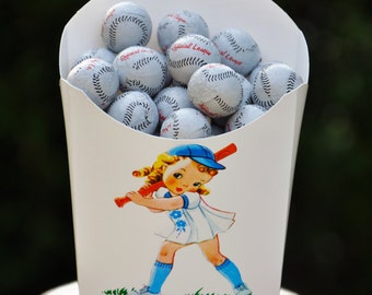 12 Baseball Party Favors, Baseball Treat Boxes, GLAMOROUS SWEET EVENTS