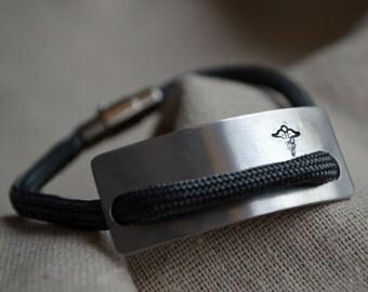 Active Medical Alert Bracelet - Hand Stamped  - Personalize - Diabetes - Epilepsy