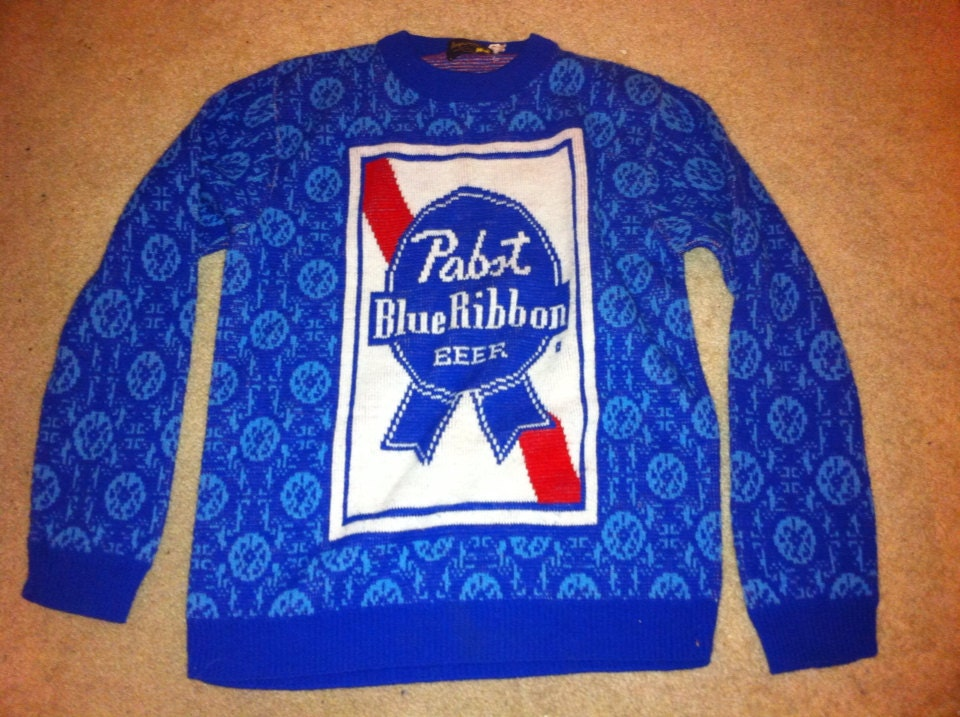 Pabst Blue Ribbon Vintage Sweater