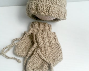 ready to ship,baby organics-Ready to ship-ogranic khaki cotton 1-4 months hat and booties Set-Photography prop-order the color you like-