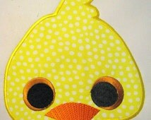 Duck Farm Animal Face Machine Applique Embroidery Design - 5x7 & 6x8