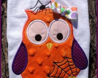 Halloween Owl 04 Machine Applique Embroidery Design - 5x7 & 6x8
