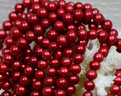 Pearl 5mm Raspberry Freshwater Pearl Jewelry Making Supplies
