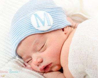 Newborn hat, newborn hospital hat, newborn boy, newborn boy hat, hospital newborn hat, newborn hat, baby hat, monogrammed