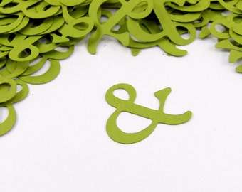 "1"" Ampersand Confetti set of 100"