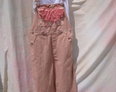 CLEARANCE Bib overalls  farmgirl prairie hippie shabby chic upcycled