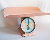 Vintage Mid Century Pink American Family Nursery Baby Scale.....Baby Photo Prop