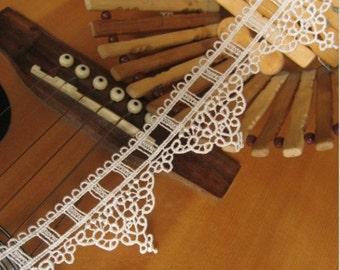 off white lace trim, bridal lace, venise lace trim, vintage lace, embroidered rose lace, wedding lace