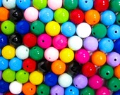 Chunky Gumball Beads, BULK DISCOUNT MIX, One Hundred (100) 20mm, Bubblegum Beads, Round Beads, Multicolor, Wholesale Bubblegum Beads