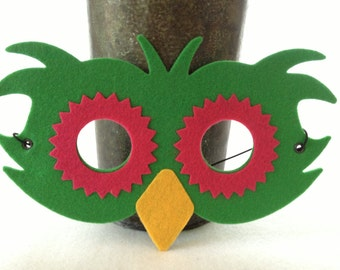 Felt Owl Masks in Bright Colors