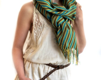Blooming Saksaul Ikat Cotton Scarf - 6000. Free Shipping on orders 100 dollars and up (USA). Coupon Code: USFREESHIPPING