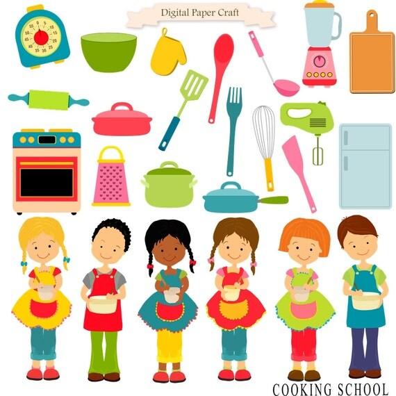 Cooking Clipart, Cooking Children, Children Clipart