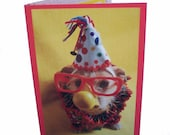 Happy Birthday Card, Clown Birthday Card, Dog Birthday Card