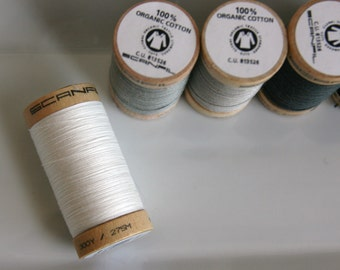 ORGANIC Cotton Thread in Natural - GOTS Certified - 4801