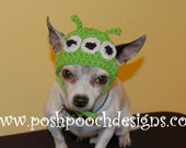 3 Eyed Alien Dog Hat - Medium - large Size - Dogs 15-35 lbs