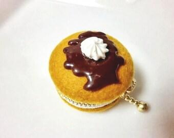 Pancake  macaroon coin/jewellery case