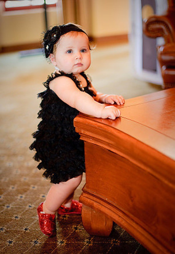 CLEARANCE Lace petti romper - BLACK - Photography Prop - With or Without straps