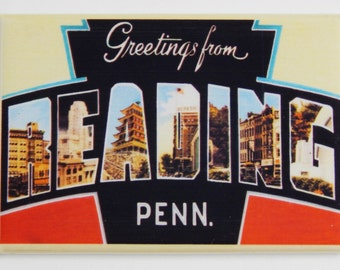 Greetings from Reading Pennsylvania Fridge Magnet (2 x 3 inches)