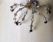 LaDy in ReD spidy  Swarovski Crystal BLING  Spider Magnet ornament