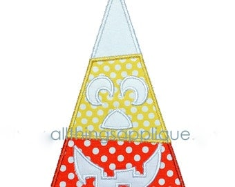 Candy Corn Jack-o-Lantern Applique - 3 Sizes - Halloween Applique Design - INSTANT DOWNLOAD