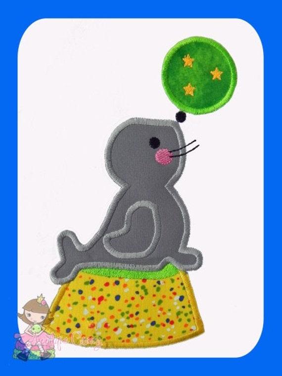 Circus Seal Applique design