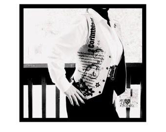 Suede Vest, Hand painted, Vest, 2 Corinthians. western wear