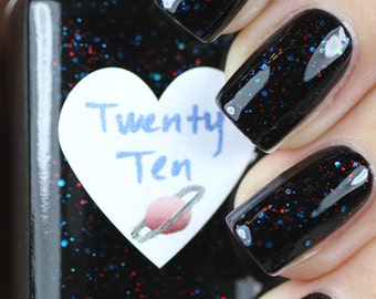 Twenty Ten Red and Blue Glitter Nail Polish 15ml (.5oz)