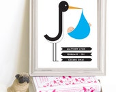 Though Very Humble : Custom Modern Style Stork Print
