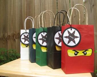 Set of 15 Ninja Favor Bags