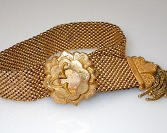 Antique Rolled Goid Victorian Adjustable Bracelet