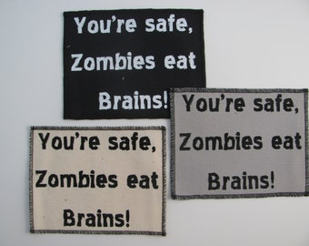 One zombie canvas patch in any color you choose....FREE SHIPPING USA